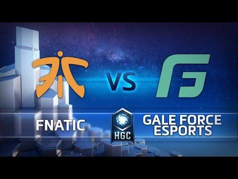 HGC Western Clash - Winner Bracket - Fnatic vs Gale Force Esports - Game 1