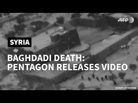 Pentagon releases video of Baghdadi raid | AFP