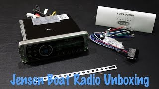 Jensen MS2013BTR Marine Stereo Unboxing