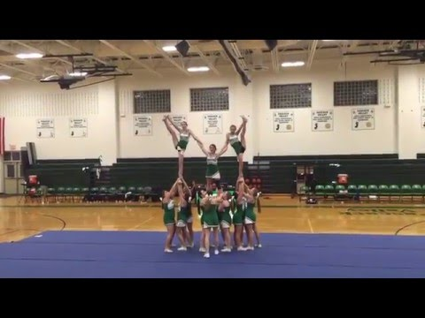 Pascack Valley High School Indians Cheerleaders Half~Time Routine 2016