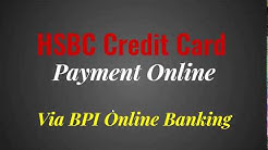HSBC Credit Card Payment Online via BPI Online Banking