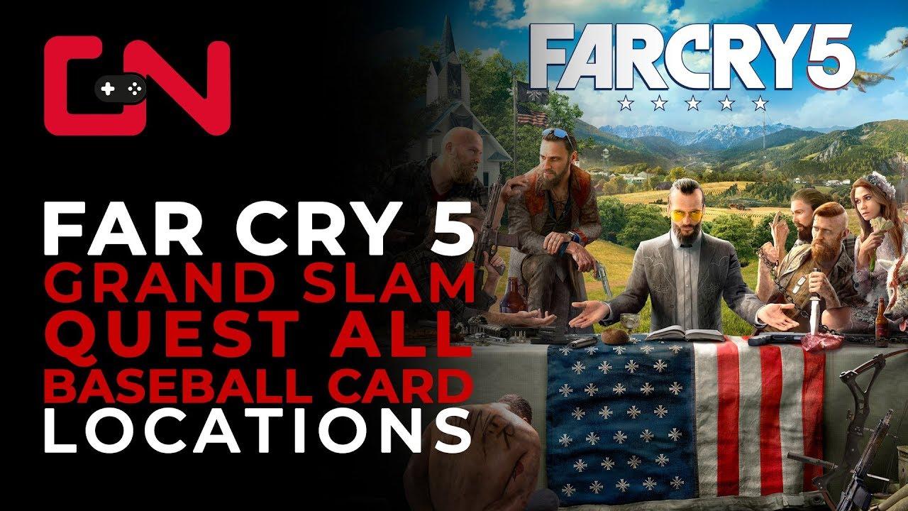 Far Cry 5 Grand Slam Quest All Baseball Cards Locations