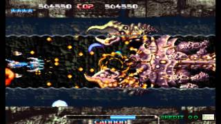 PULSTAR ARCADE GAMEPLAY ONE CREDIT ALL