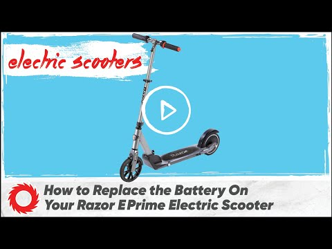How To Replace The Battery On The Razor E Prime Electric Scooter