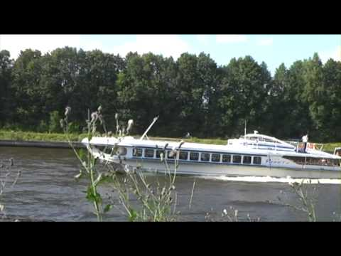 Shipspotting of Raketa hydrofoil on Moscow canal in 2010