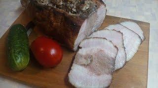 Подчерёвок запеченный в духовке или запеченное сало с проростью (прослойкой мяса)