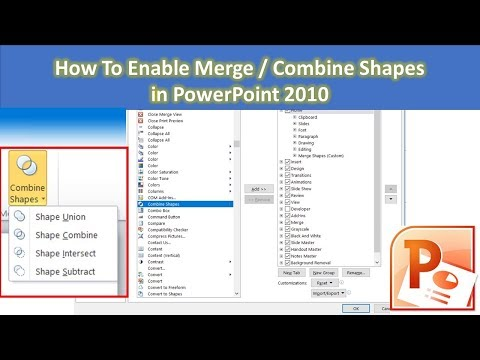 how-to-enable-merge-/-combine-shapes-in-powerpoint-2010-tutorial