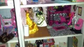 Huge Bookcase Dollhouse Tour (bratz)!!!
