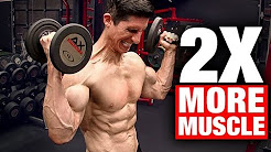 Best Exercise For a Man | Build Twice the Muscle with 1/2 the Weight!