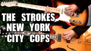 [Live version] New York City Cops - The Strokes ( Guitar Tab Tutorial & Cover )