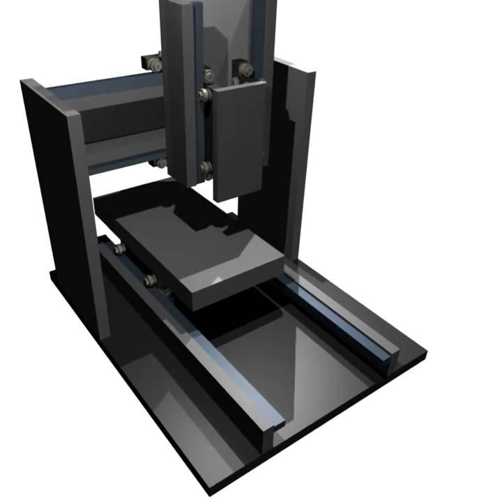 blender animation cnc holz fraese mit kugellager f hrungen. Black Bedroom Furniture Sets. Home Design Ideas