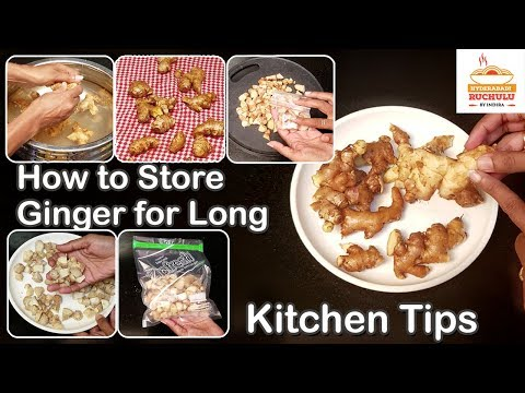 How to Store Ginger for Long Time | Kitchen Tips | Howto Store Fresh Ginger in Fridge without Fridge