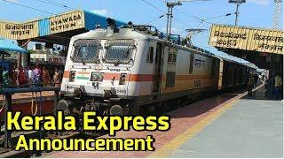 Kerala Express Announcement Arrival Departure BZA Junction Vijayawada Railway Station