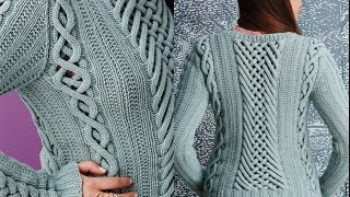 Vogue Knitting Fall 2014 #8 Fretwork Pullover