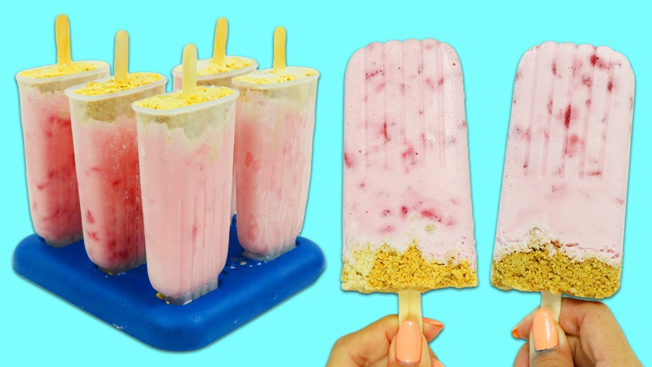 How to Make Delicious Strawberry Cheesecake Popsicles | Fun & Easy DIY Desserts!