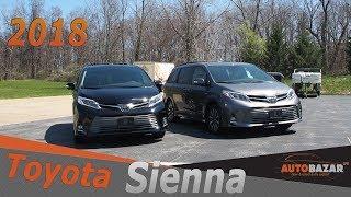 Что Изменилось В 2018 Toyota Sienna Limited Awd. Тест Драйв Тойота Сиенна 2018 Фейслифт На Русском.