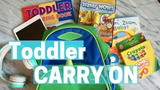 WHAT IS IN MY CARRY-ON BAG Flying with a Toddler   Tips on Flying with a TODDLER