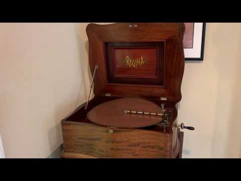 Regina Music Box Model 139 with Phonograph (Part 1)
