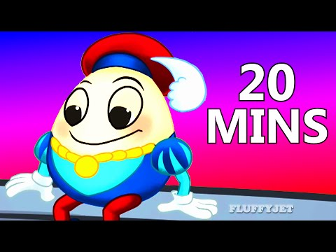 Humpty Dumpty Song  More Nursery Rhymes  20 Minutes Compilation  FluffyJetToys Kids Animation