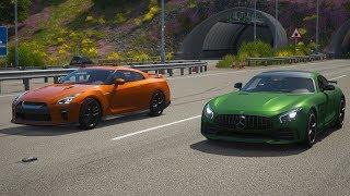Forza Horizon 4 Drag race: Mercedes-AMG GTR vs Nissan GTR 2017
