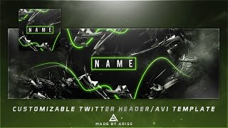 Free Abstract Twitter Header/avi Template Psd!  Customizable Color And Text!