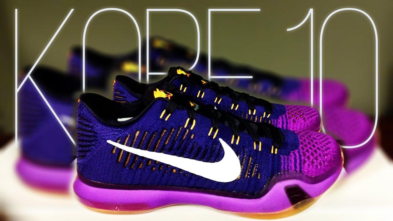 brand new f904e a9651 ... purple 50c1f f8075  spain nike kobe 10 elite low opening night youtube  8516b 5c113