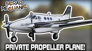 Building a Twin Engine Propeller Plane! (Scrap Mechanic Live Stream)