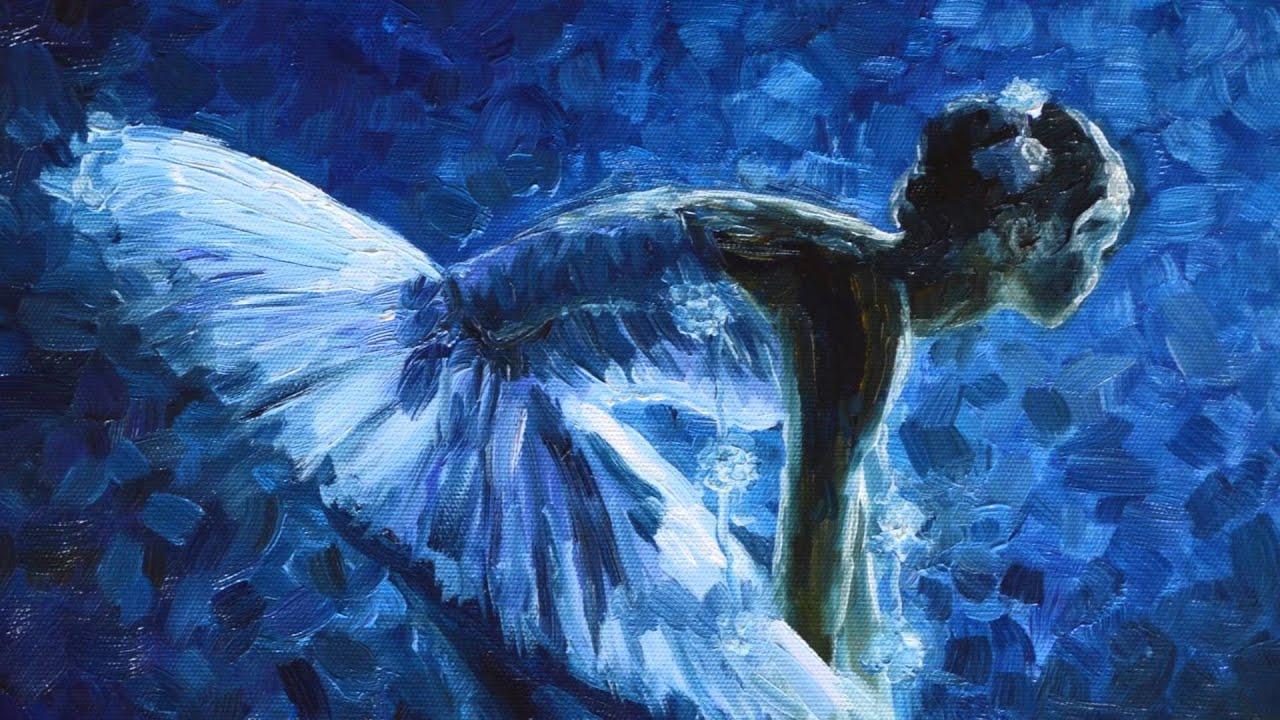Blue Ballerina Painting