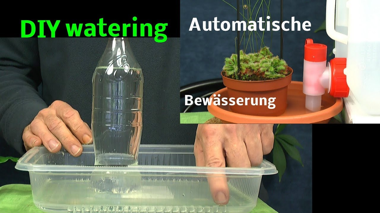 automatische bew sserung von pflanzen diy watering plants with bottles youtube. Black Bedroom Furniture Sets. Home Design Ideas