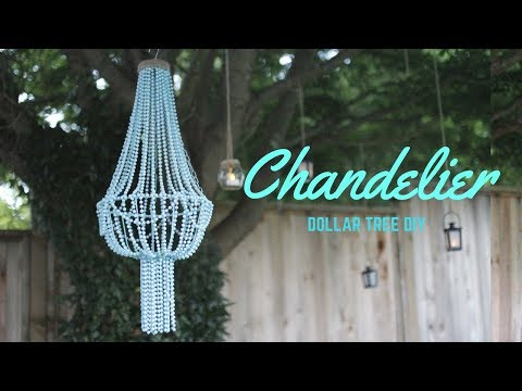 DIY CHANDELIER- CHEAP DOLLAR STORE DIY