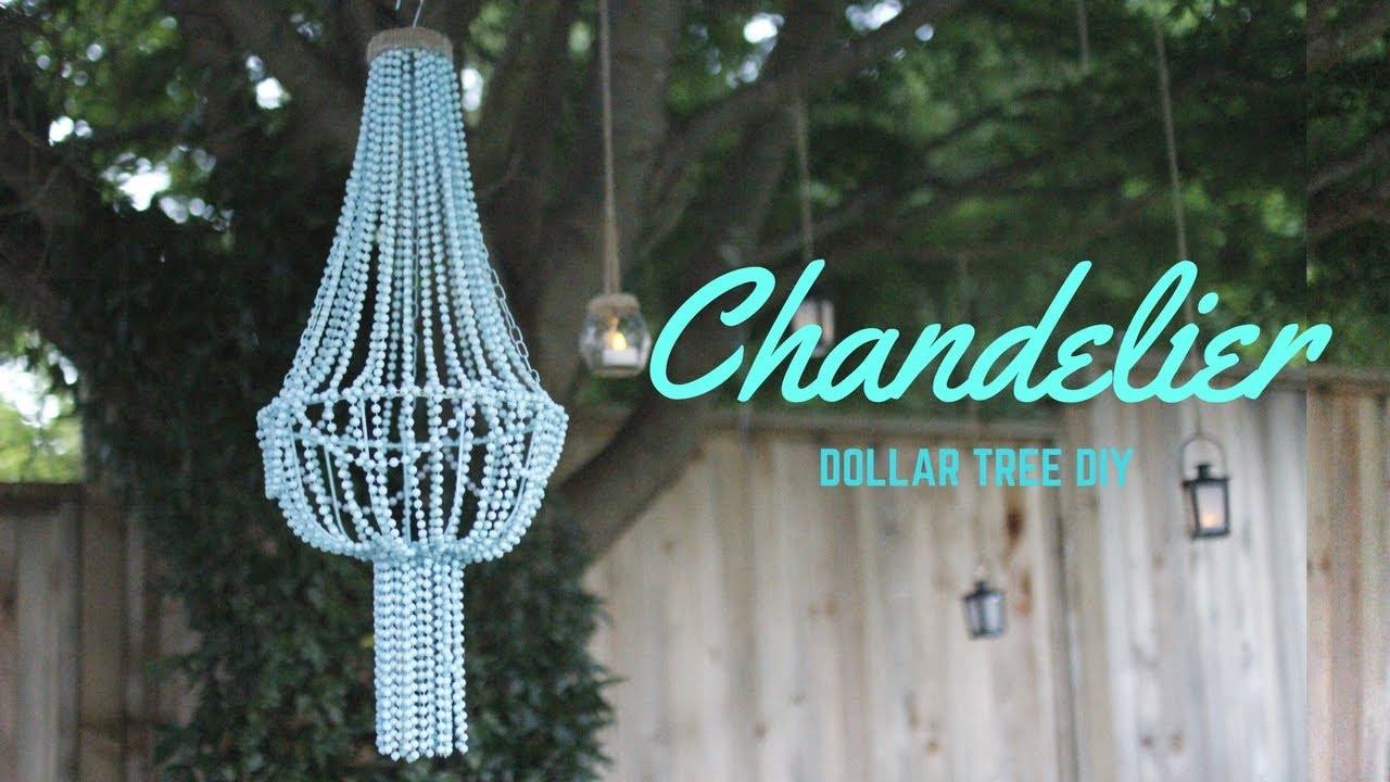 Diy Chandelier Cheap Dollar Store Diy Youtube