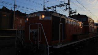 【JR貨物 紀勢本線】和歌山市1号踏切 甲種輸送(DD51 1193+南海8300 6両) 通過