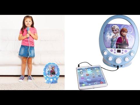 Frozen 66227 Disney Disco Party CD+G Karaoke with Light - The Best Portable Karaoke Player For Kids