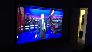 TV projector demo