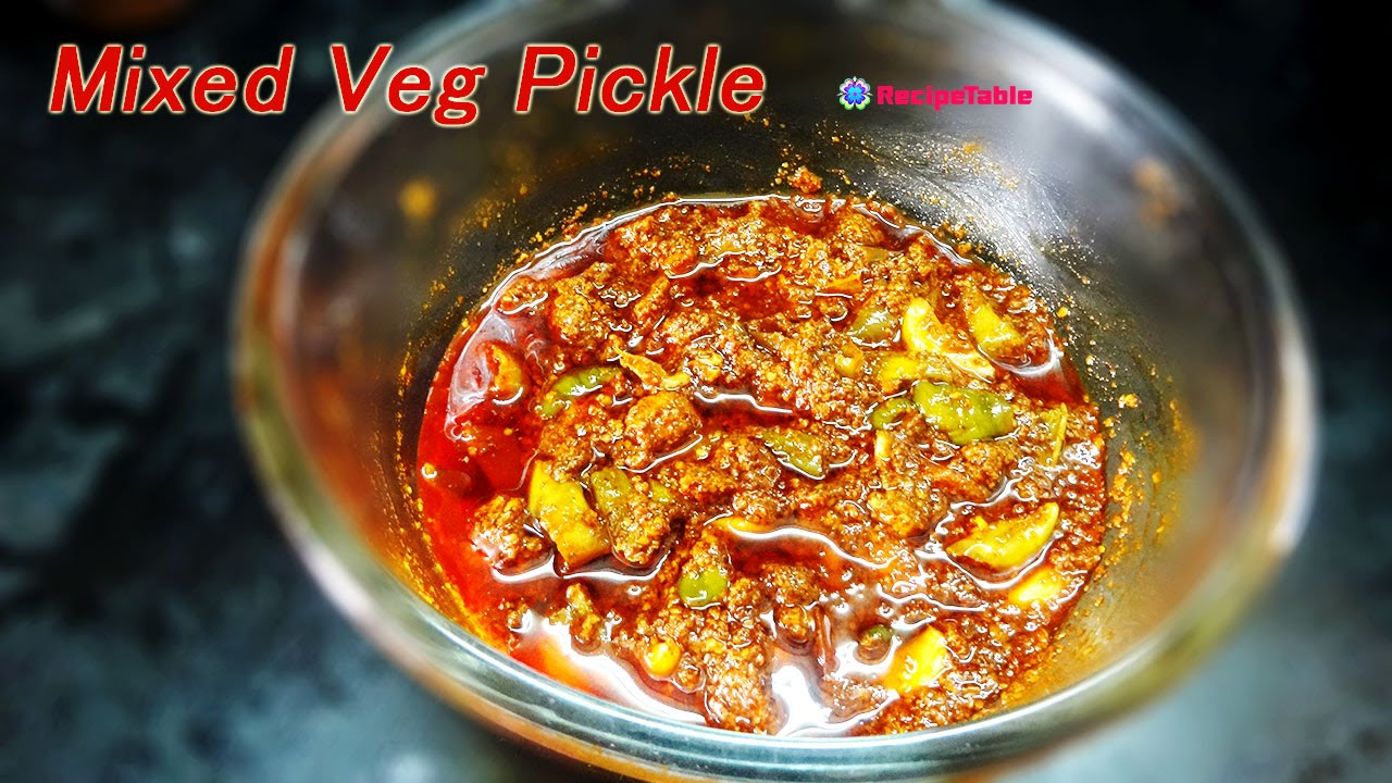 Download Mixed Vegetable Pickle  - Recipe Table