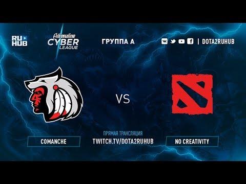 Comanche vs No Creativity, Adrenaline Cyber League, game 2 [Lum1Sit, Autodestruction]