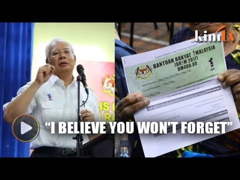 Remember BN, says Najib in BR1M handout speech