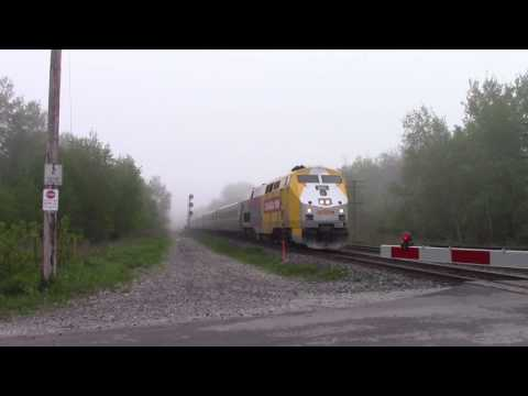 Ontario  Trip 2017 Video 3 of 111: VIA 641 @ Newtonville Canada 22MAY17 P42DC 905 Leading