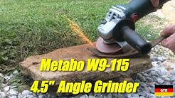 "German Tool Reviews:  Metabo W9-115 (4.5"" 900W Angle Grinder)"