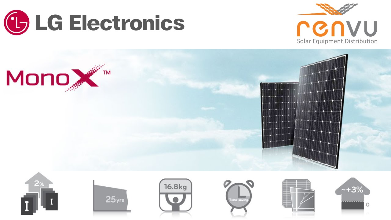 LG Electronics MonoX NeON High Efficiency Solar Module Introduction Video |  RENVU