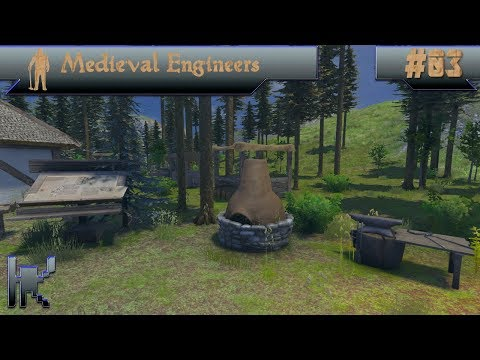 Let's Play Medieval Engineers - Episode 3: Getting Our Smithing On!