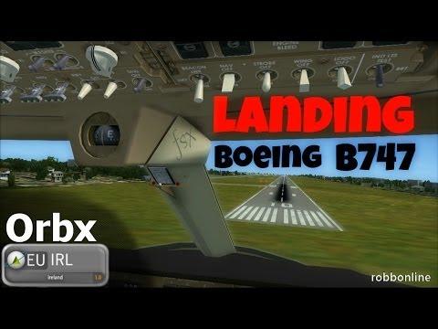 Flight Simulator X 2014 - Landing Boeing 747 400D - Dublin Airport [Orbx EU Ireland FSX]