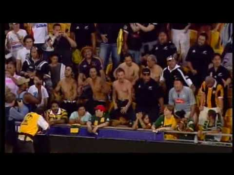 Kiwis Haka: Rugby League 2008 World Cup Final (includes haka response from fans)