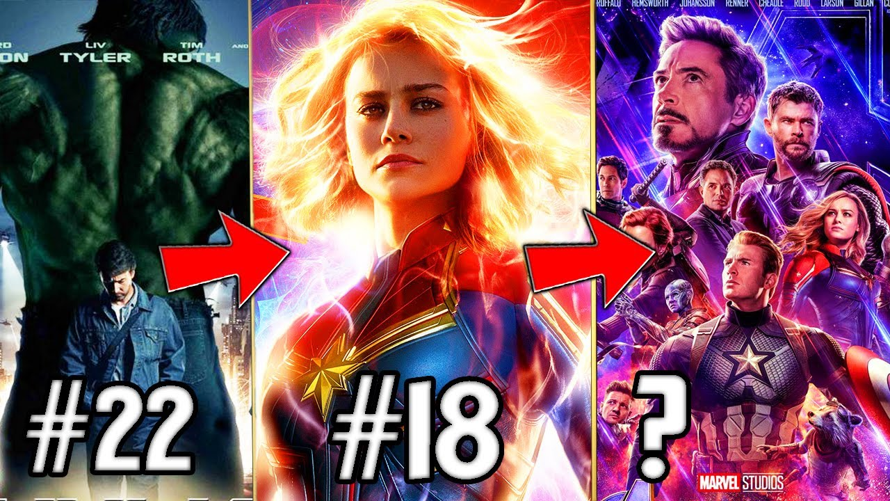 All 22 Marvel Cinematic Universe Infinity Saga Movies RANKED!