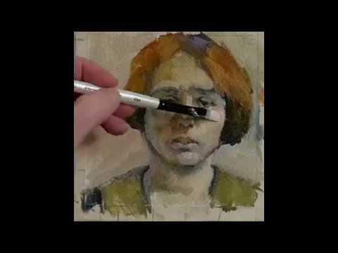 Oil Portrait Painting Aida Time Lapse