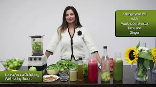 Detox with green shakes and apple cider vinegar
