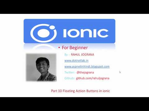 Part 10 how to use Floating action buttons (FABs) in ionic