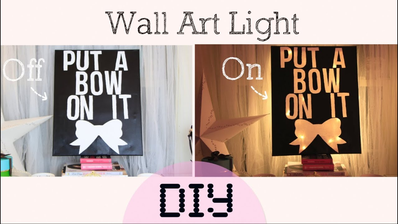 Wall Art With Lights diy light/lamp wall art - home decor - youtube