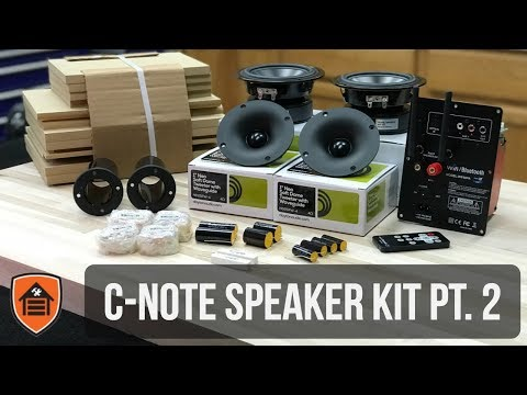 C-Note speaker kit build with Wifi & Bluetooth built in [Part 2]