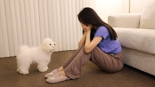 My Puppy Reacts to me Crying (Unexpected reaction!)